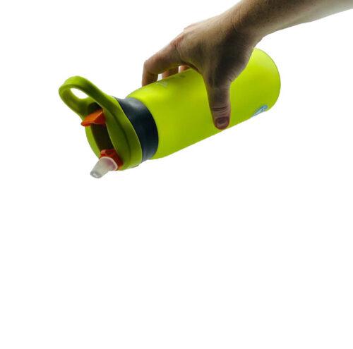 Пляшка для води CASNO 750 мл KXN-1210 Зелена з соломинкою фото 4