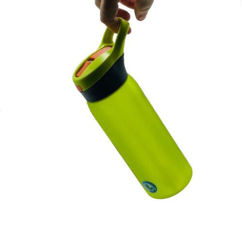 Пляшка для води CASNO 750 мл KXN-1210 Зелена з соломинкою фото 5