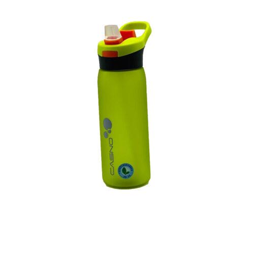 Пляшка для води CASNO 750 мл KXN-1210 Зелена з соломинкою фото 6