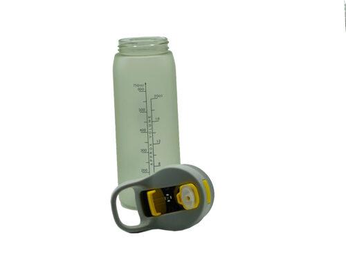 Пляшка для води CASNO 750 мл KXN-1210 Сіра з соломинкою фото 4