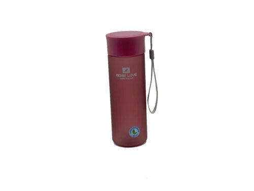Пляшка для води CASNO 600 мл MX-5014 More Love Фіолетова фото 1