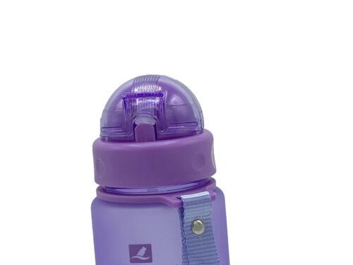 Пляшка для води CASNO 400 мл MX-5028 More Love Фіолетова з соломинкою фото 4