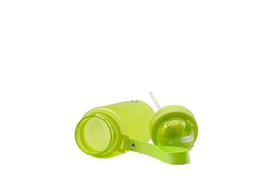Пляшка для води CASNO 400 мл MX-5028 More Love Зелена з соломинкою фото 3