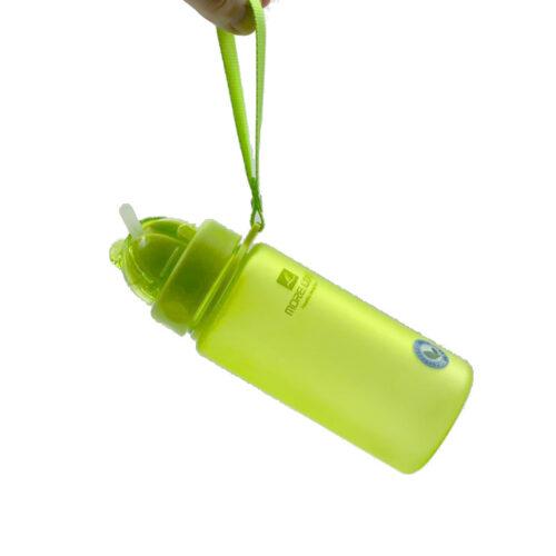Пляшка для води CASNO 400 мл MX-5028 More Love Зелена з соломинкою фото 2