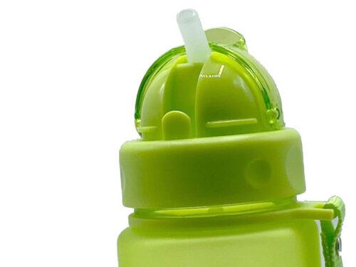 Пляшка для води CASNO 400 мл MX-5028 More Love Зелена з соломинкою фото 4
