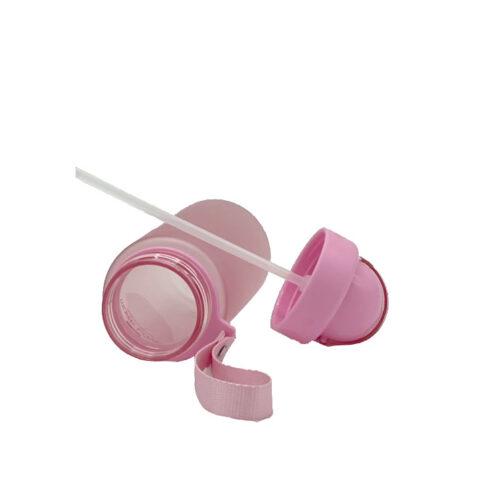 Пляшка для води CASNO 400 мл MX-5028 More Love Рожева з соломинкою фото 5