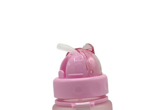 Пляшка для води CASNO 400 мл MX-5028 More Love Рожева з соломинкою фото 3
