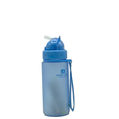 Пляшка для води CASNO 400 мл MX-5028 More Love Блакитна з соломинкою фото 4