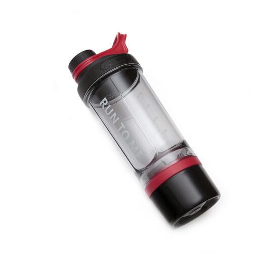 Шейкер з контейнером Casno 600 мл KXN-1199 Сірий/Червоний фото 2