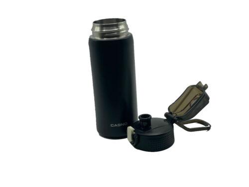 Термопляшка CASNO 450 мл KXN-6065 Чорна фото 2