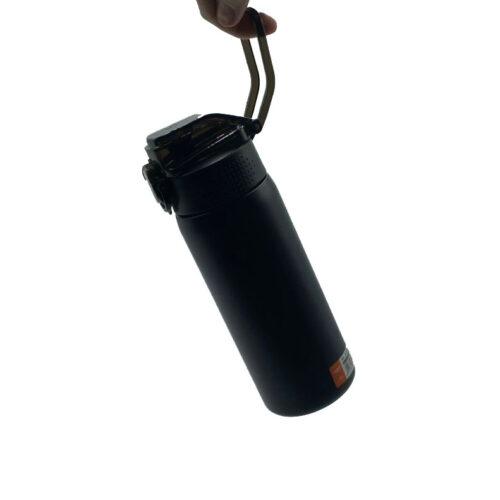 Термопляшка CASNO 450 мл KXN-6065 Чорна фото 5