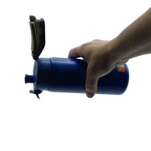 Термопляшка CASNO 450 мл KXN-6065 Синя фото 4