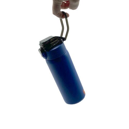 Термопляшка CASNO 450 мл KXN-6065 Синя фото 5