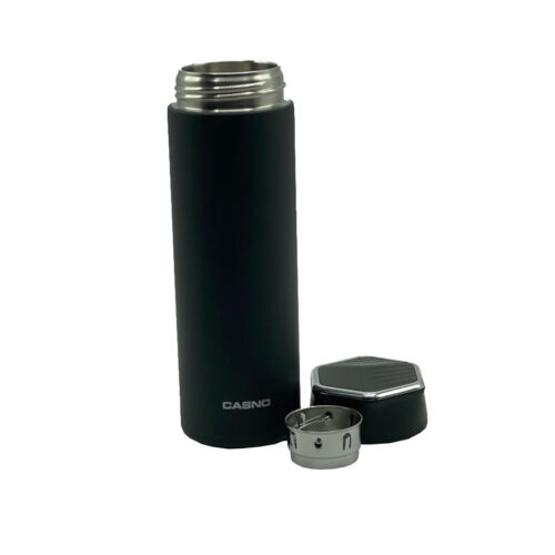 Термопляшка CASNO 450 мл KXN-6057 Чорна фото 3