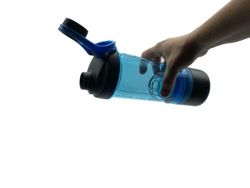 Шейкер з контейнером Casno 600 мл KXN-1199 Синій фото 4