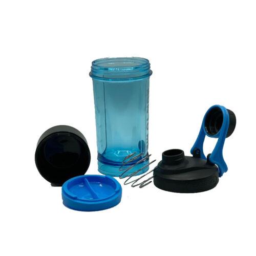 Шейкер з контейнером Casno 600 мл KXN-1199 Синій фото 5