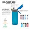 Пляшка для води CASNO 550 мл KXN-1215 Чорна фото 7