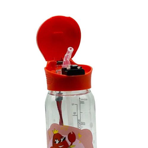 Пляшка для води CASNO 400 мл KXN-1195 Червона (краб) з соломинкою фото 4