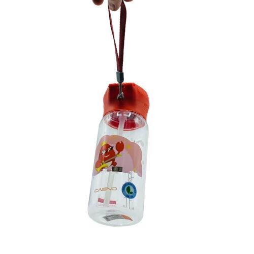 Пляшка для води CASNO 400 мл KXN-1195 Червона (краб) з соломинкою фото 5