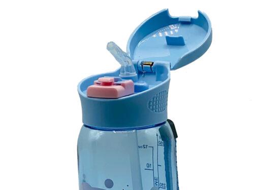 Пляшка для води CASNO 400 мл KXN-1195 Сіра (дельфін) з соломинкою фото 4