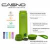 Пляшка для води CASNO 700 мл KXN-1156 Зелена фото 6