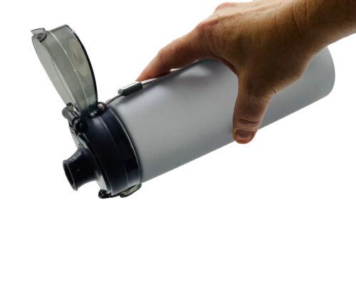 Пляшка для води CASNO 650 мл KXN-1157 Сіра фото 3
