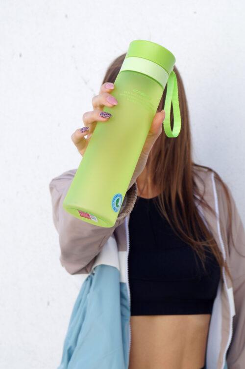 Пляшка для води CASNO 700 мл KXN-1156 Зелена фото 7
