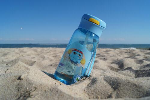 Пляшка для води CASNO 400 мл KXN-1195 Синя (восьминіг) з соломинкою фото 5
