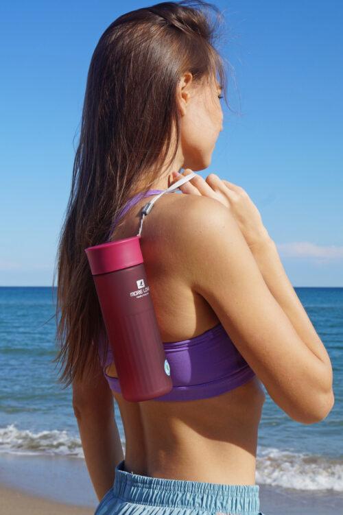 Пляшка для води CASNO 600 мл MX-5014 More Love Фіолетова фото 6