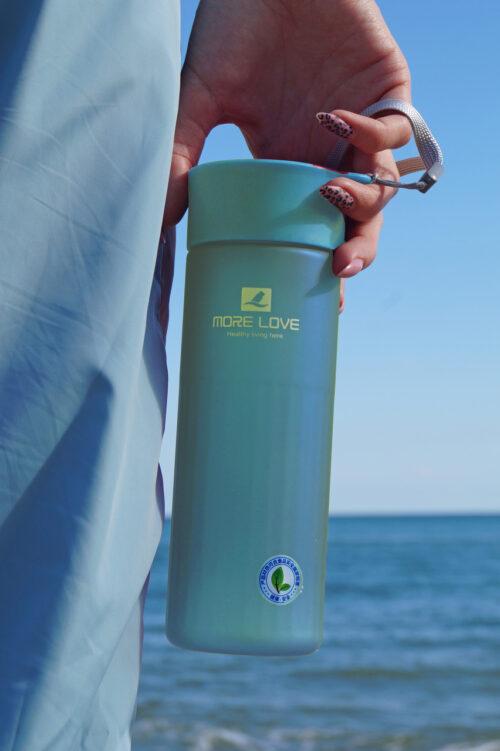Пляшка для води CASNO 600 мл MX-5014 More Love Блакитна фото 6