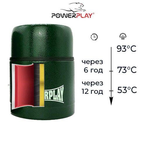 Термос харчовий PowerPlay 9003 Зелений 500 мл фото 3