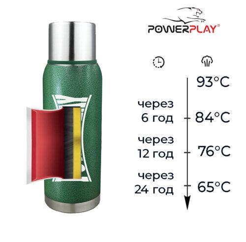 Термос PowerPlay 9001 Зелений 1200 мл фото 4