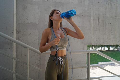 Спортивная бутылка-шейкер BlenderBottle SportMixer 28oz/820ml Navy (ORIGINAL) фото 4