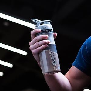 Спортивна пляшка-шейкер BlenderBottle SportMixer 28oz/820ml Grey (ORIGINAL) фото 5