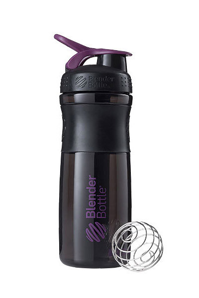 Спортивна пляшка-шейкер BlenderBottle SportMixer 28oz/820ml Black/Plum (ORIGINAL) фото 1