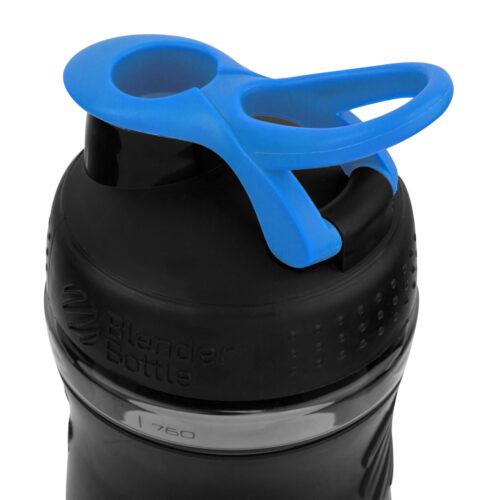 Спортивна пляшка-шейкер BlenderBottle SportMixer 28oz/820ml Black/Cyan (ORIGINAL) фото 3