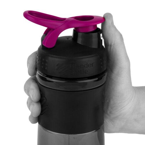 Спортивна пляшка-шейкер BlenderBottle SportMixer 28oz/820ml Black/Pink (ORIGINAL) фото 2