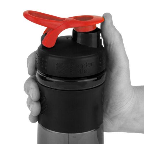 Спортивна пляшка-шейкер BlenderBottle SportMixer 28oz/820ml Black/Red (ORIGINAL) фото 2