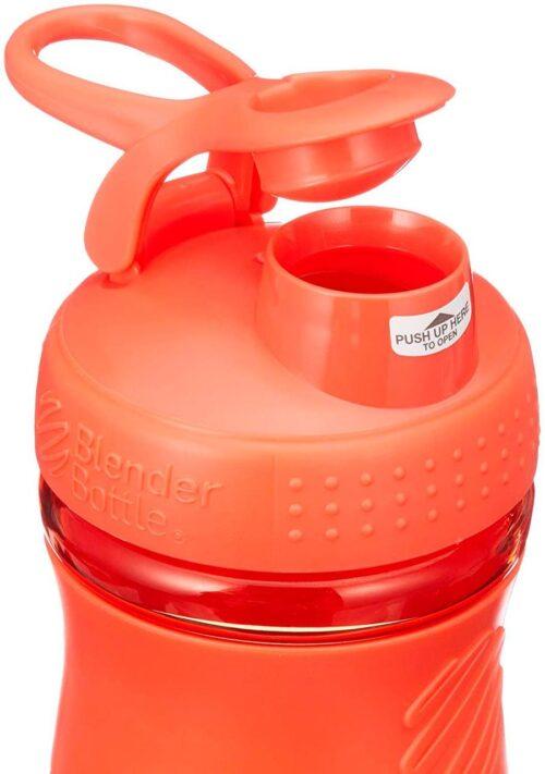 Спортивна пляшка-шейкер BlenderBottle SportMixer 20oz/590ml Coral (ORIGINAL) фото 4