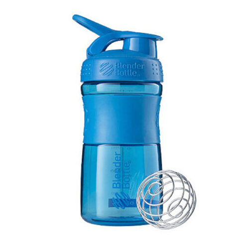 Спортивна пляшка-шейкер BlenderBottle SportMixer 20oz/590ml Cyan (ORIGINAL) фото 1