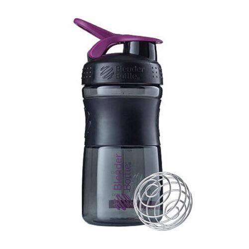 Спортивна пляшка-шейкер BlenderBottle SportMixer 20oz/590ml Black/Plum (ORIGINAL) фото 1
