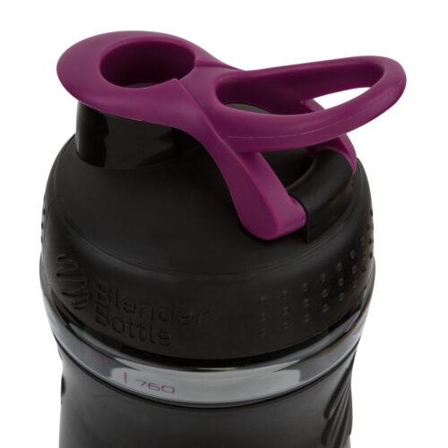 Спортивна пляшка-шейкер BlenderBottle SportMixer 20oz/590ml Black/Plum (ORIGINAL) фото 3