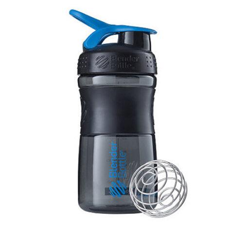 Спортивна пляшка-шейкер BlenderBottle SportMixer 20oz/590ml Black/Cyan (ORIGINAL) фото 1