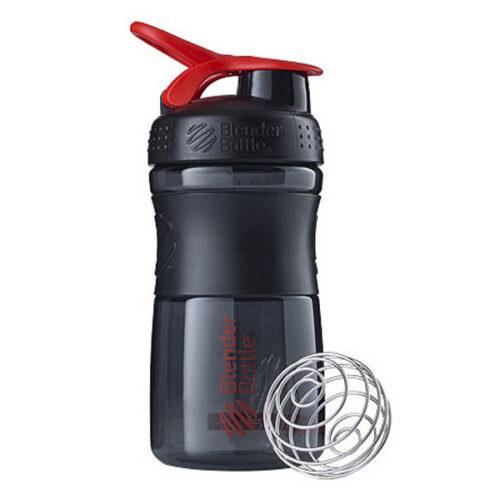 Спортивна пляшка-шейкер BlenderBottle SportMixer 20oz/590ml Black/Red (ORIGINAL) фото 1