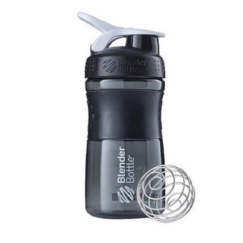Спортивна пляшка-шейкер BlenderBottle SportMixer 20oz/590ml Black/White (ORIGINAL) фото 1