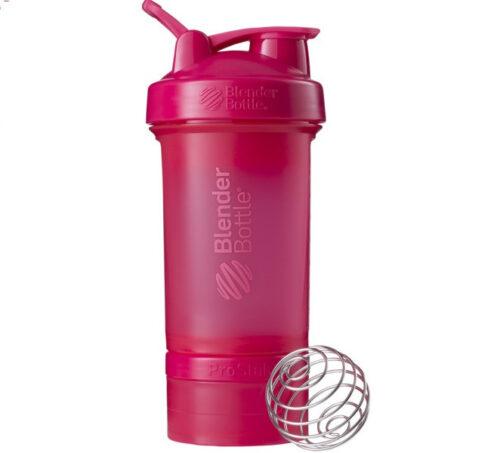 Шейкер спортивний BlenderBottle ProStak 22oz/650ml з 2-ма контейнерами Pink FL (ORIGINAL) фото 1