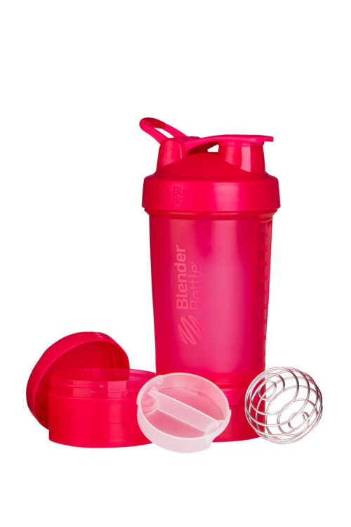 Шейкер спортивний BlenderBottle ProStak 22oz/650ml з 2-ма контейнерами Pink FL (ORIGINAL) фото 2