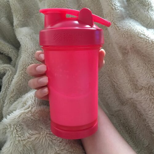 Шейкер спортивний BlenderBottle ProStak 22oz/650ml з 2-ма контейнерами Pink FL (ORIGINAL) фото 3