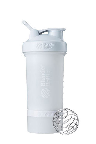 Шейкер спортивний BlenderBottle ProStak 22oz/650ml з 2-ма контейнерами White (ORIGINAL) фото 1