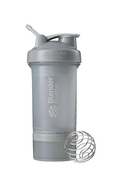 Шейкер спортивний BlenderBottle ProStak 22oz/650ml з 2-ма контейнерами Grey (ORIGINAL) фото 1
